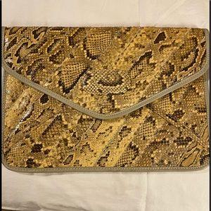 Susan Gail Snakeskin Envelope/Clutch Handbag